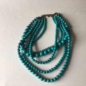 BaubleBar Blue Necklace Multi Strand